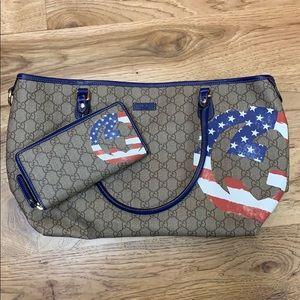 Gucci Tote Bag and Wallet Set
